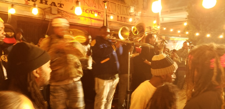Brass band music at Kermit's Lounge